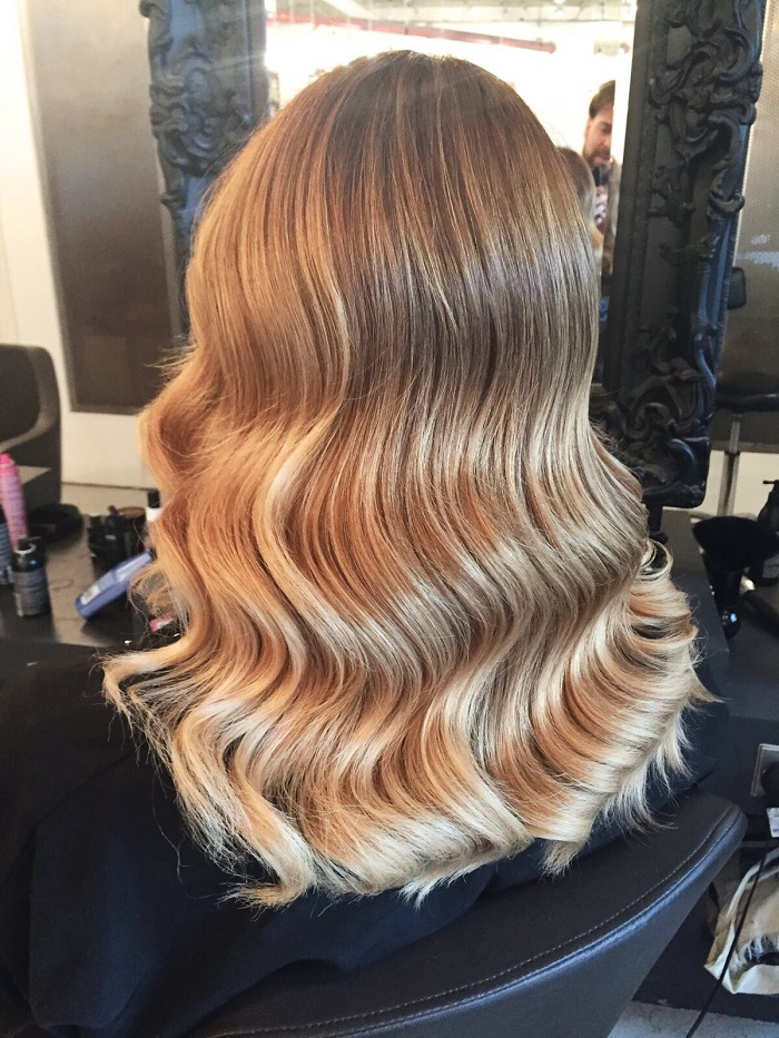 Balayage Nine Elms Blonde And Wavy Dry By Paco At Live True London Vauxhall Hair Salon