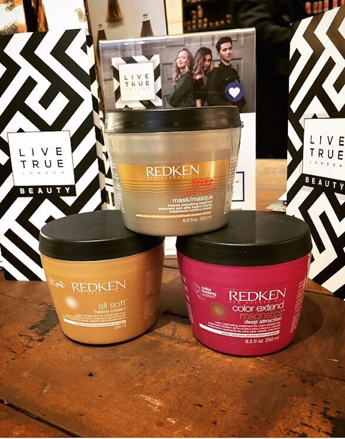 Redken hair treatments on display at Live True London Vauxhall