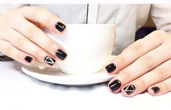 coffee with nail art at Live True London Vauxhall and Nine Elms