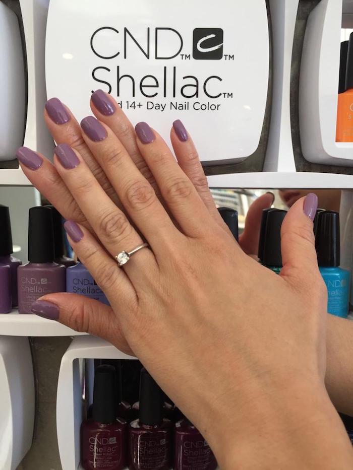 Purple nails at Live True London Vauxhall and Nine Elms