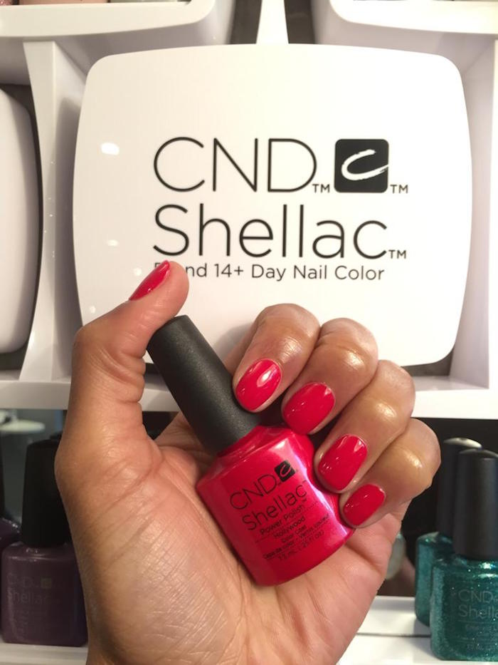 Pink gel manicure at Vauxhall and Nine Elms Beauty Salon