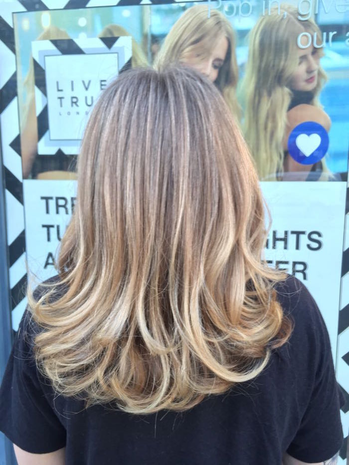blonde hair highlights Brixton salon