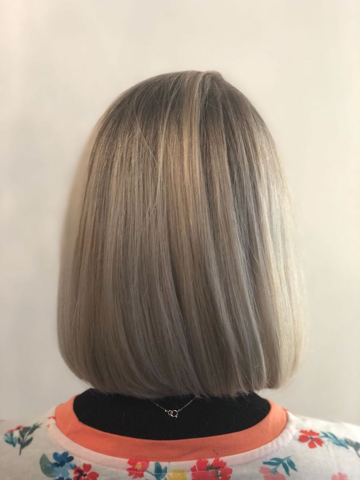 Straight short hair highlights Brixton hair salon