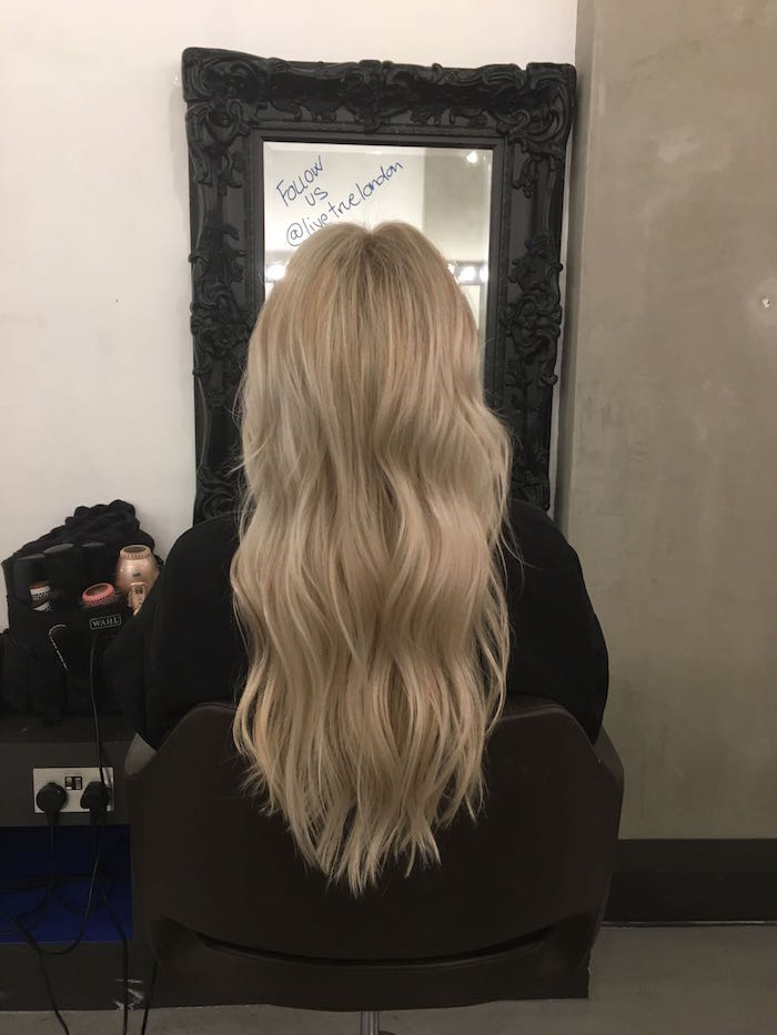 Soft waves on blonde highlights Brixton hair at Live True London hair salon
