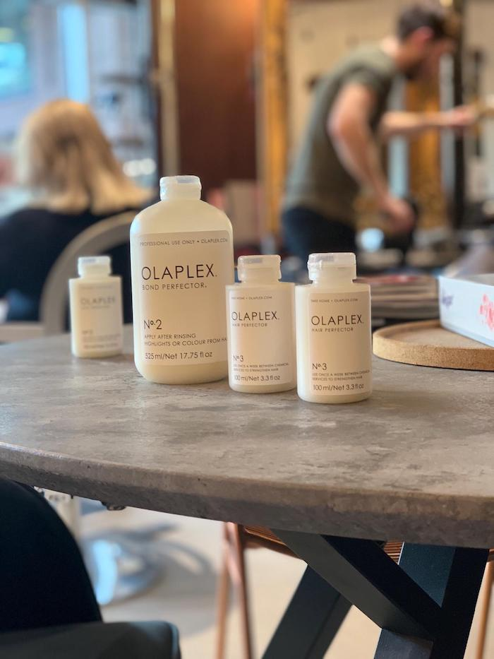 Olaplex London hair treatment in salon