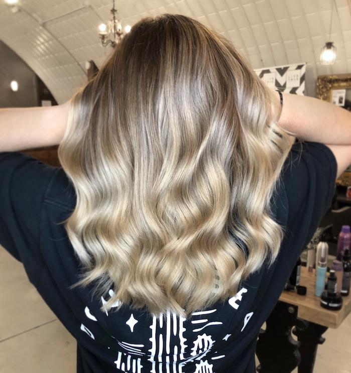 natural looking balayage at hair salon in London in Clapham, Live True London Salons