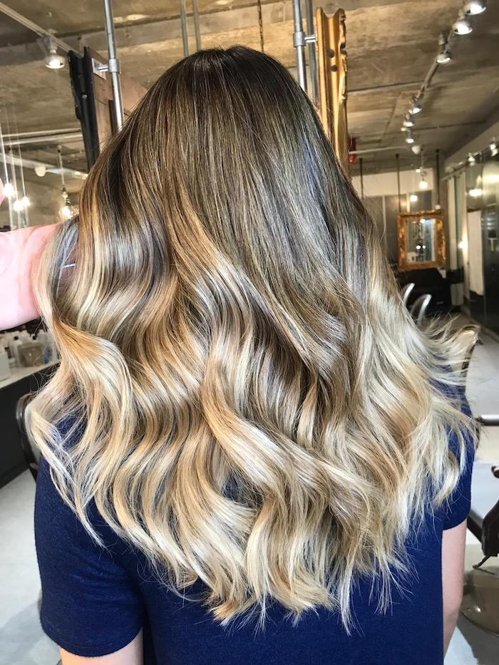 blonde balayage in hair salon in London in Vauxhall and Nine Elms