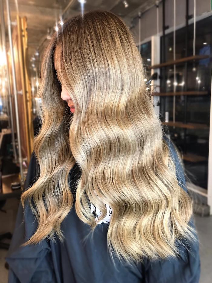 Balayage with blow dry hair salon London
