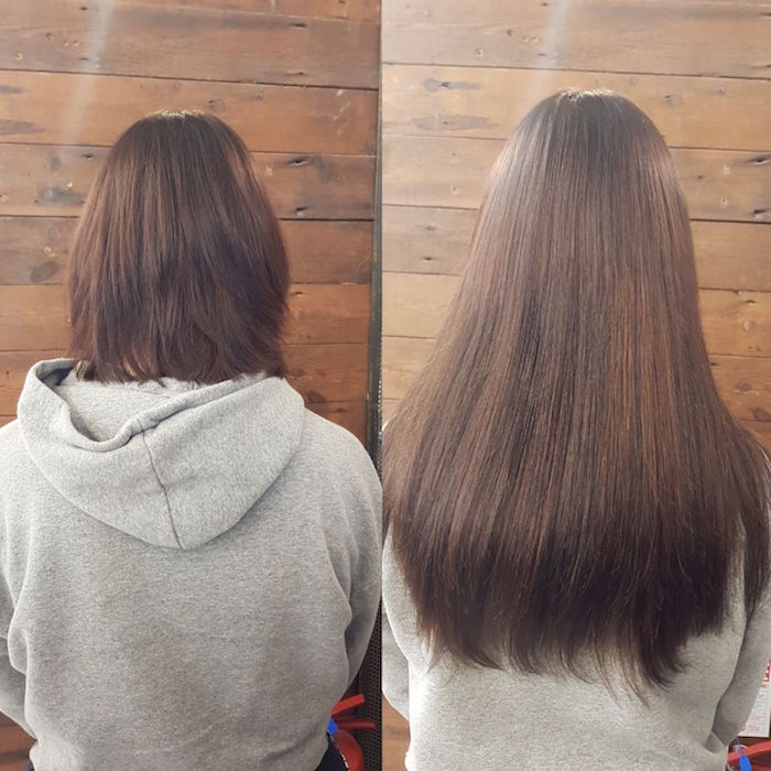 Clapham hair extensions for length at London hair salon