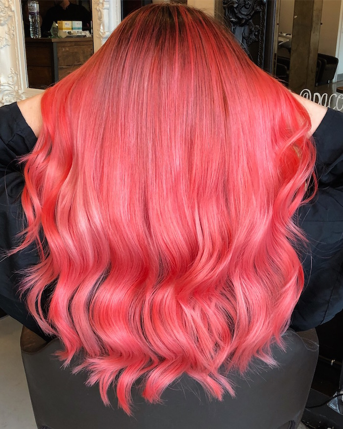Living coral hair at the Vauxhall and Nine Elms salon in London