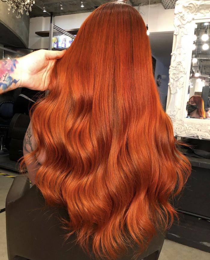 Red hair in London hair salon