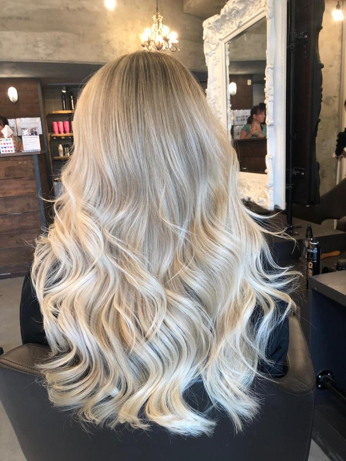 Blonde natural balayage at hair salon in Vauxhall Mother's Day idea