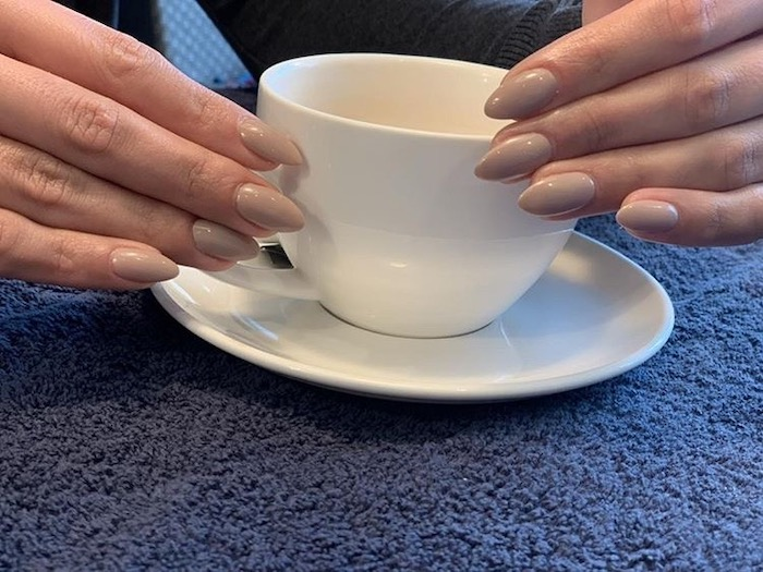 Natural looking manicure at the Vauxhall and Nine Elms salon in London