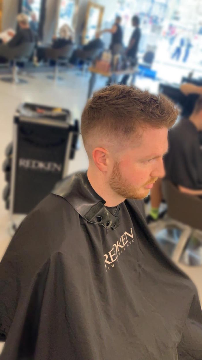 Faded haircut for gent in Clapham salon in London