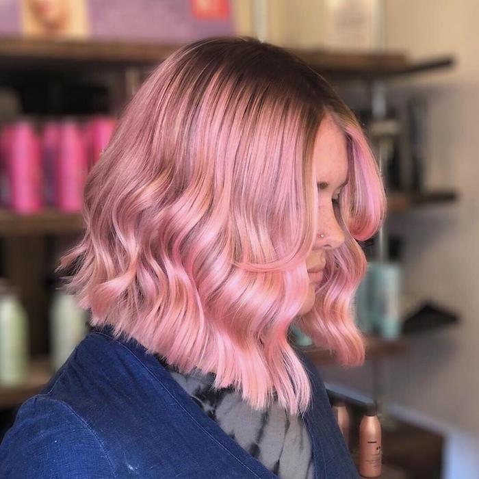 Vivid pink balayage at the Brixton hair salon in London