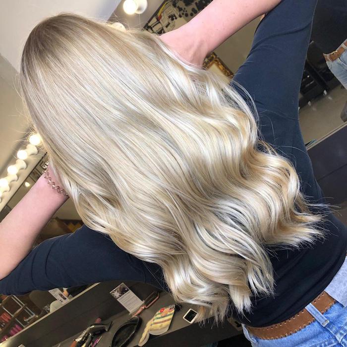 Blonde hair at Brixton hair salon in south London
