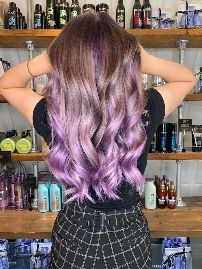 Purple hair at Clapham hair salon in London