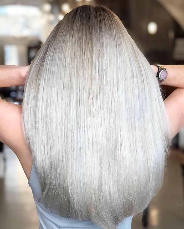 Scandi blonde hair in London salon in Clapham