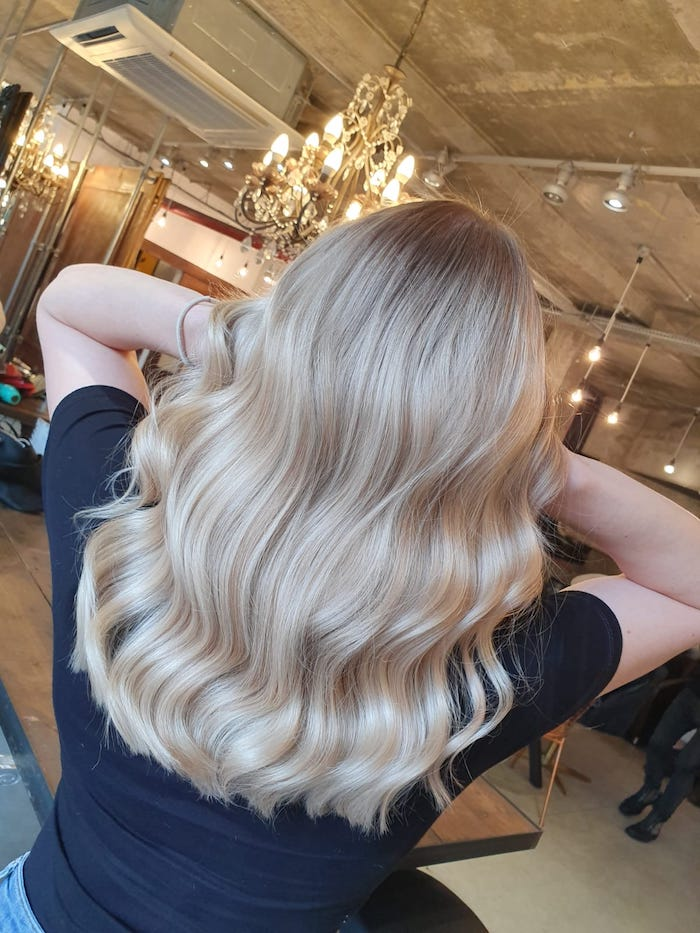 Blonde balayage at the Vauxhall and Nine Elms salon in London