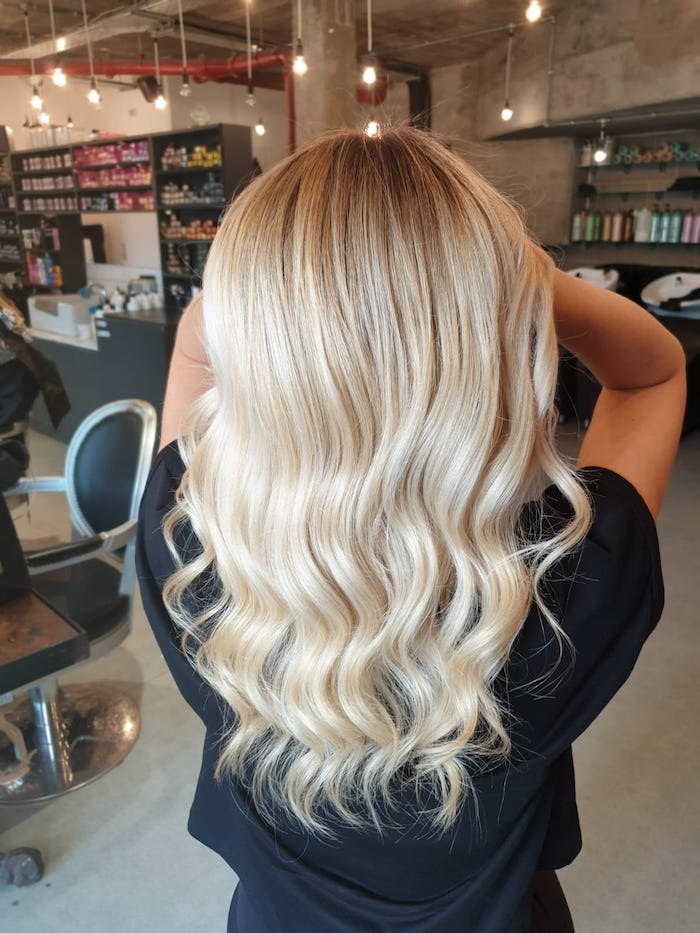 Creamy blonde at the Vauxhall and Nine Elms hair salon in London