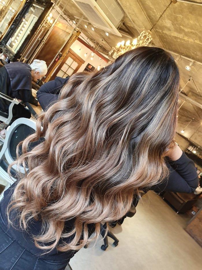 balayage London, brunette balayage, balayage in London, London balayage, colour specialist salon