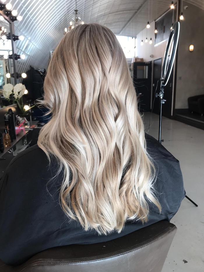 Creamy blonde at the Clapham hair salon in London