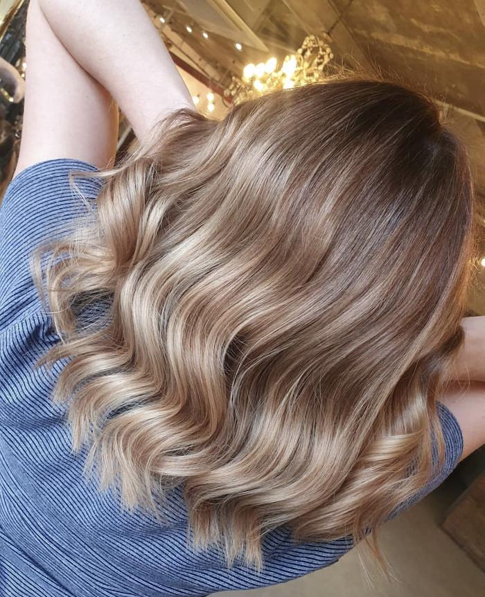 Autumn blonde Balayage at hair salon in London in Nine Elms