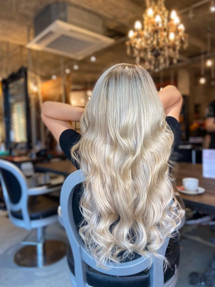Autumn Blonde hair extensions at the Vauxhall and Nine Elms salon in London