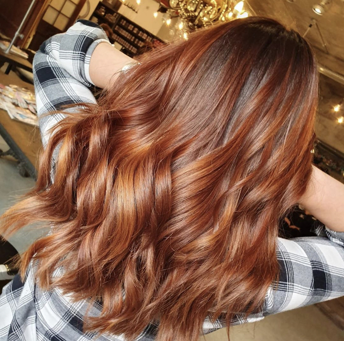 Copper hair in London salon in Vauxhall and Nine Elms