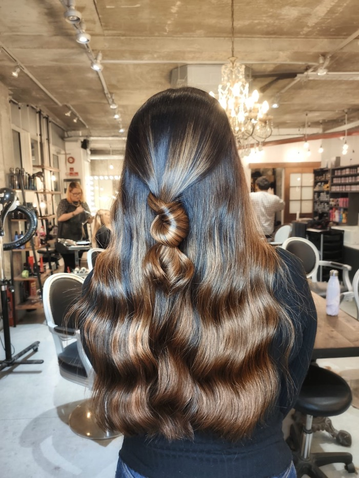 Healthy shiny hair at the Vauxhall and Nine Elms salon in London