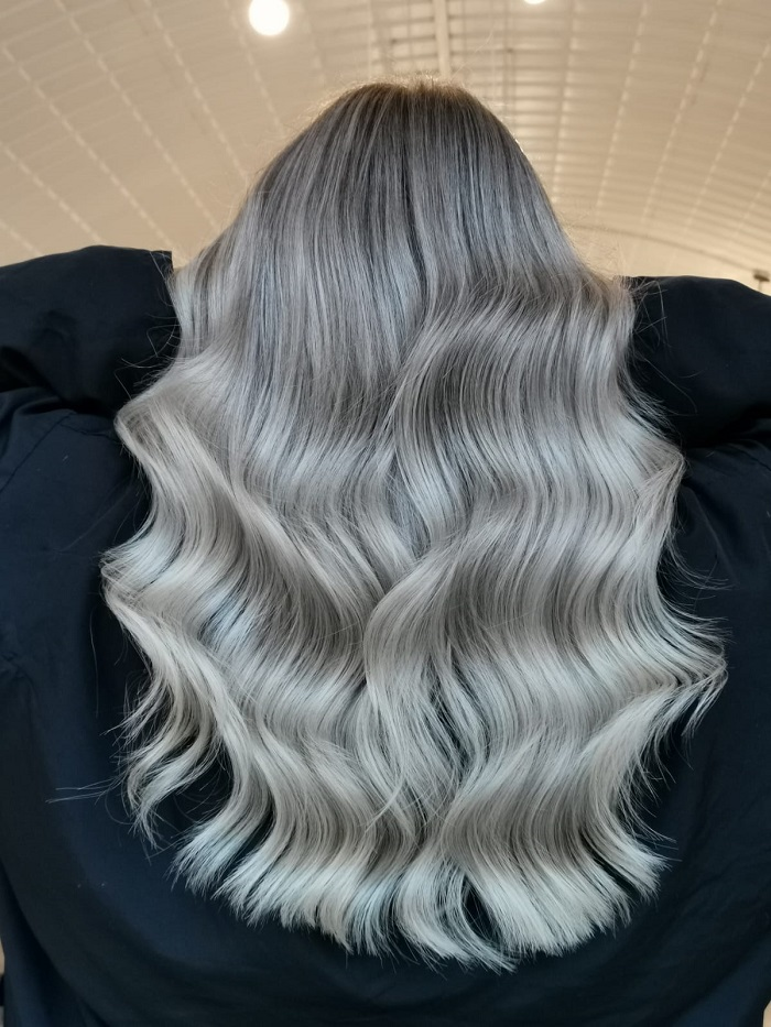 perfect icy blonde balayage at live true london