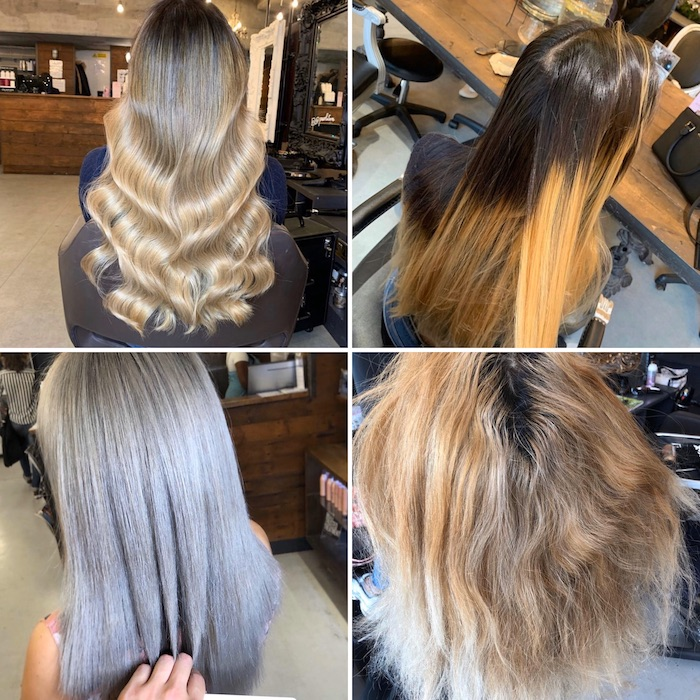 Colour correction in London hair salon