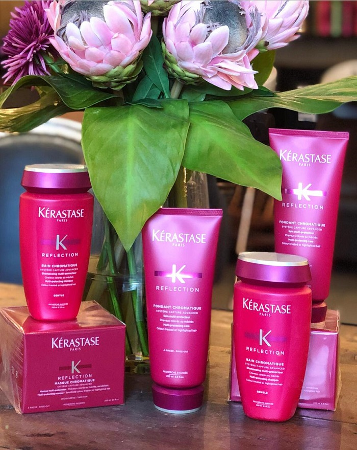 Kerastase colour treated range at the vauxhall salon