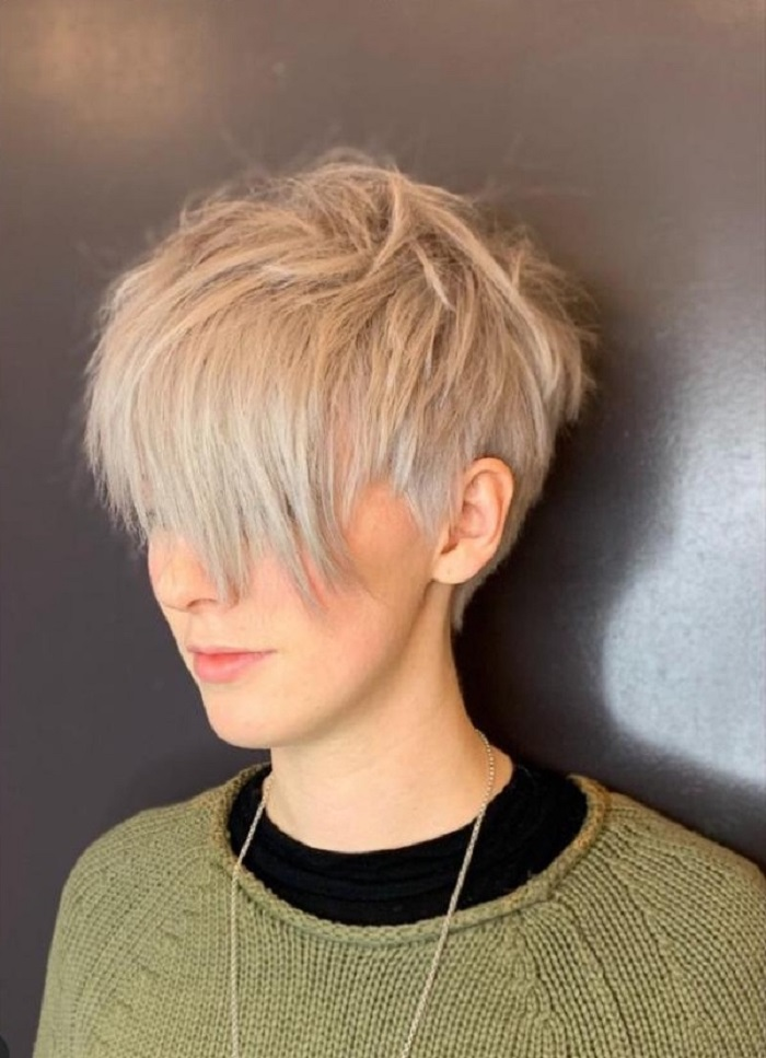 pixie cut hairstyle at Clapham live true london