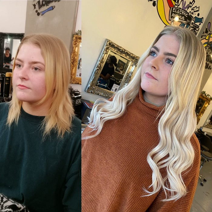 before and after created at the brixton salon