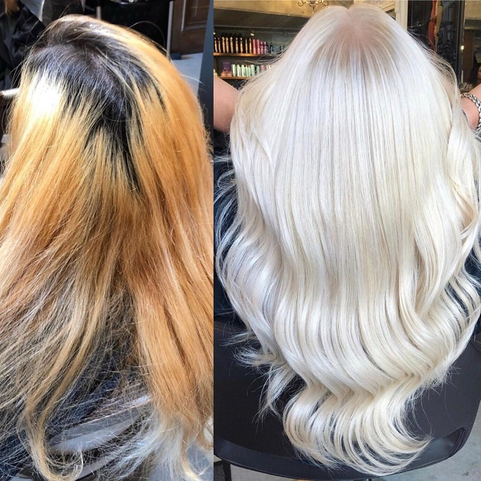perfect blonde created from colour patchwork at vauxhall
