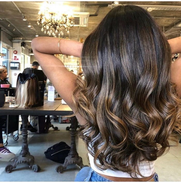 balayage will complement your tan