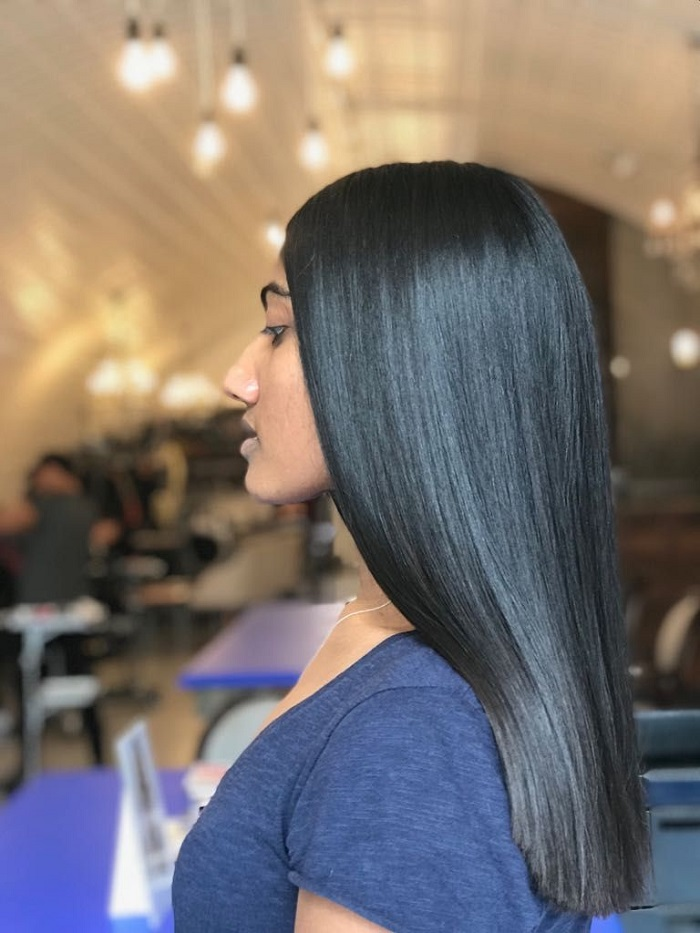 one length cut for thicker hair at live true london