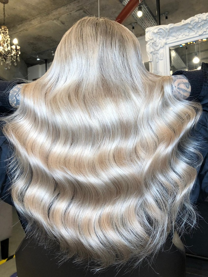 pure blonde colour at our vauxhall salon an example of great winter haircare tips