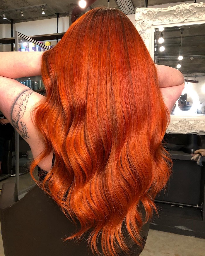 copper hair for a vibrant Christmas at Live true