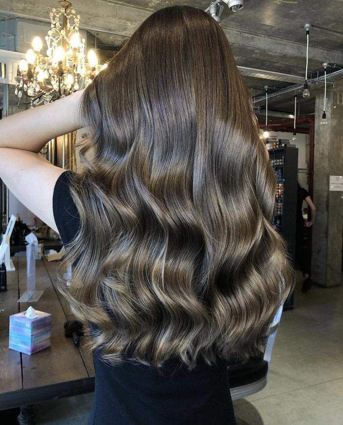 brunette balayage in London hair salon