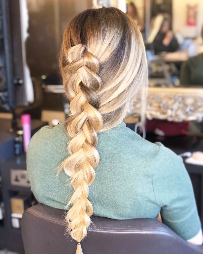 braid at hair salon in Clapham