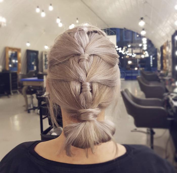 Updo in London hair salon in Clapham