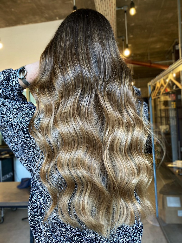 mermaid hair with extra length and natural waves