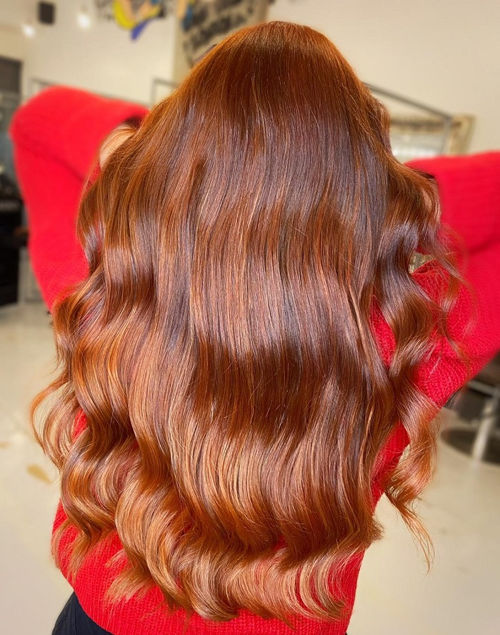 red balayage for the summer at live true brixton